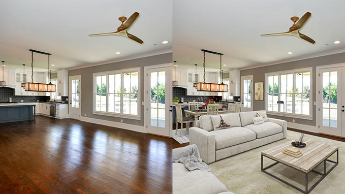 Virtual Staging Photoshop